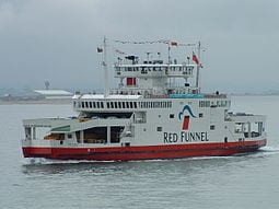 One of the Red Funnel Ferries