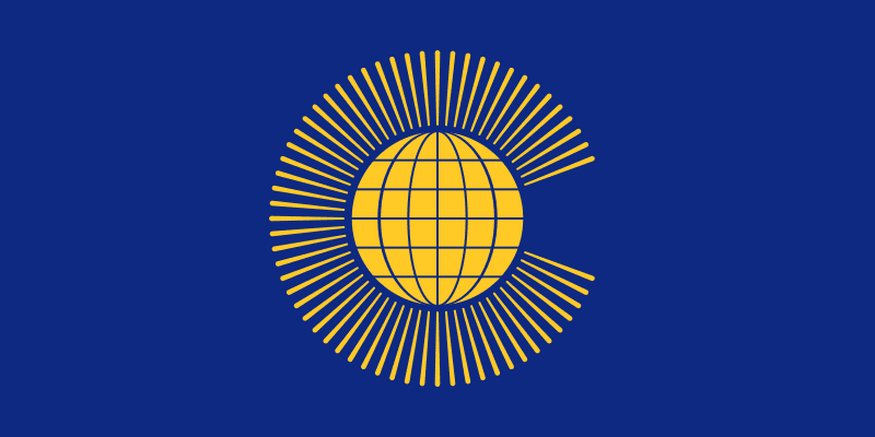 The Commonwealth flag.
