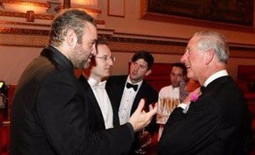 Malta's internationally famed tenor Joseph Calleja chatting to Prince Charles after singing during the CHOGM official opening ceremony.