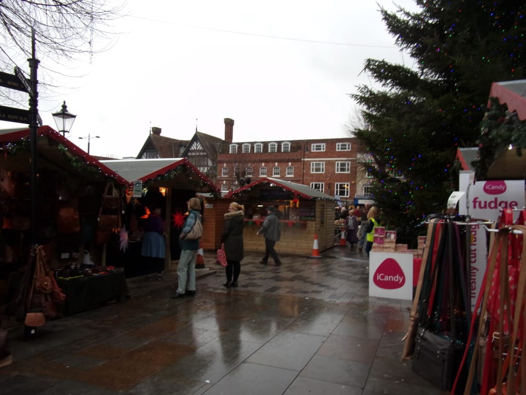 the Christmas market and normal Tuesday market in the centre square