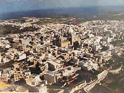 An aerial view of Nadur in Gozo.