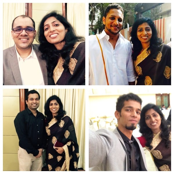 Catching up with buddies (clock-wise)- Rakesh, Swapnil, Vikrant & Chinmay