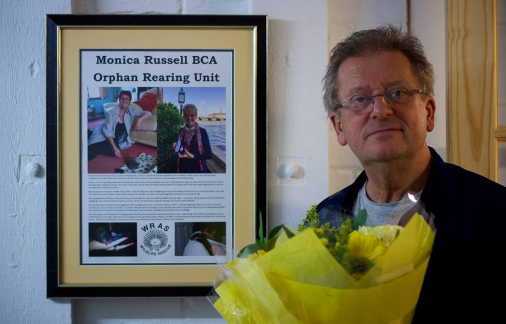 Brian Russell with a special framed dedication to Monica (1)