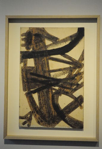 Walnut Stain 1947-3 ©Pierre Soulages
