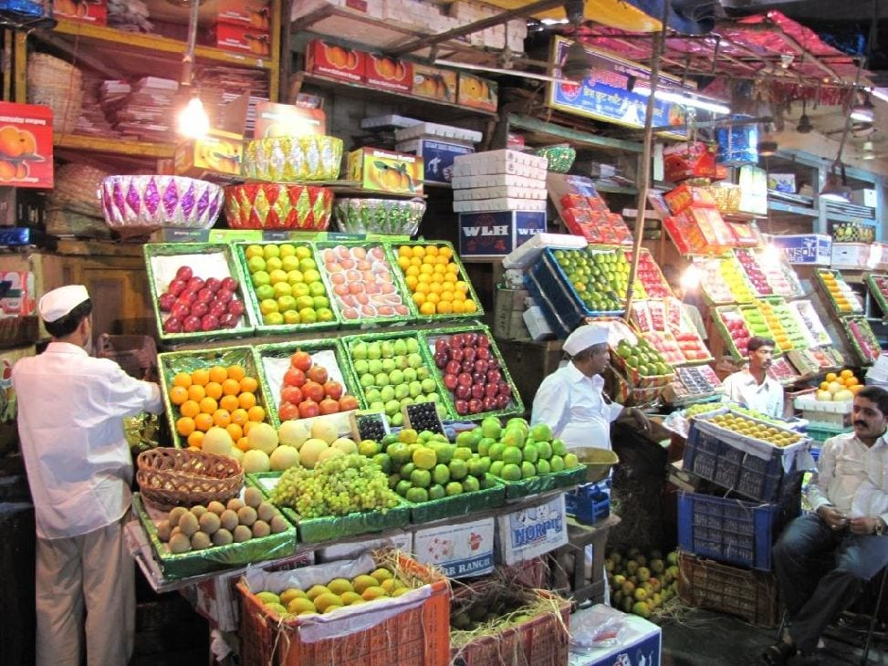 Fruits section at the Crawford Market