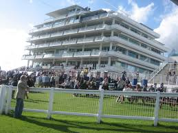 Epsom grandstand. I start from the roadway on the other side