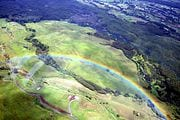 Rainbow taken from a helicopter