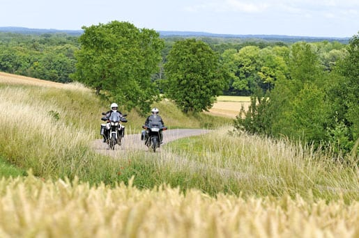 Motorbiking in Champagne country (photo Eric Corlay)