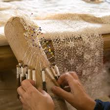 intricate lace making