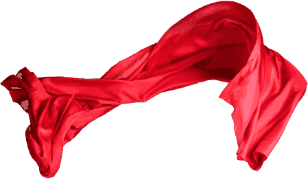 Red cloth or red clothing used to draw out measels.