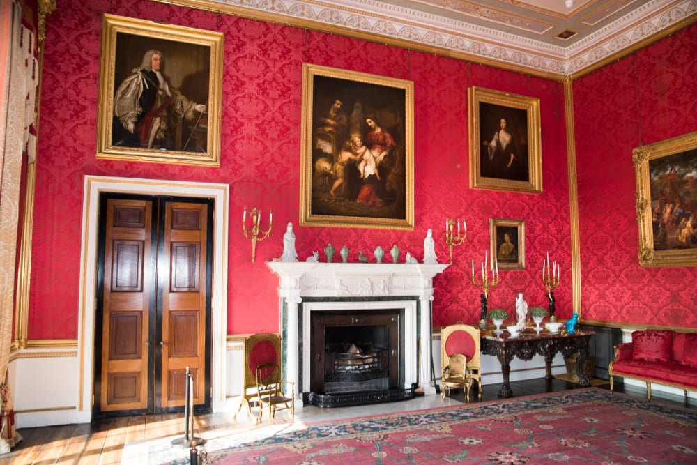 Ragley Hall Alcester, The-Red-Saloon.