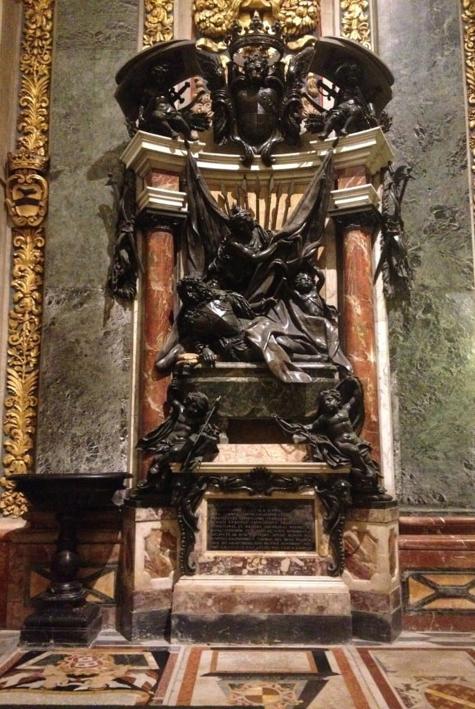 Another ornate and splendid monument to a Grandmaster - one of several.