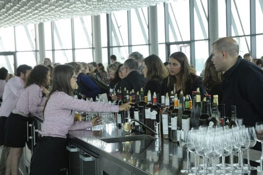 Wine tasting counter at the Belvedere