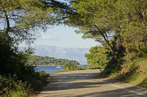 Romantic road near jelsa