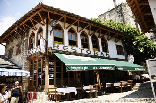 One of the numerous restaurants