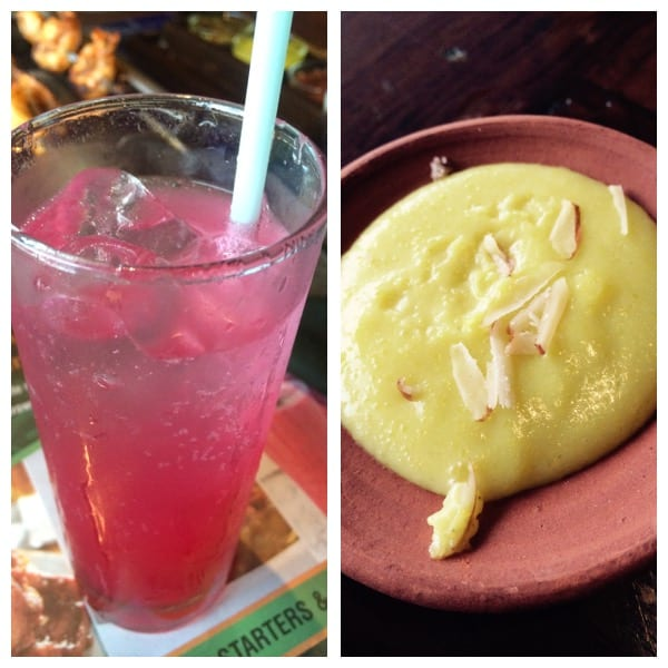Lichee-Rose Mocktail & Phirni (Flour based sweet dish)