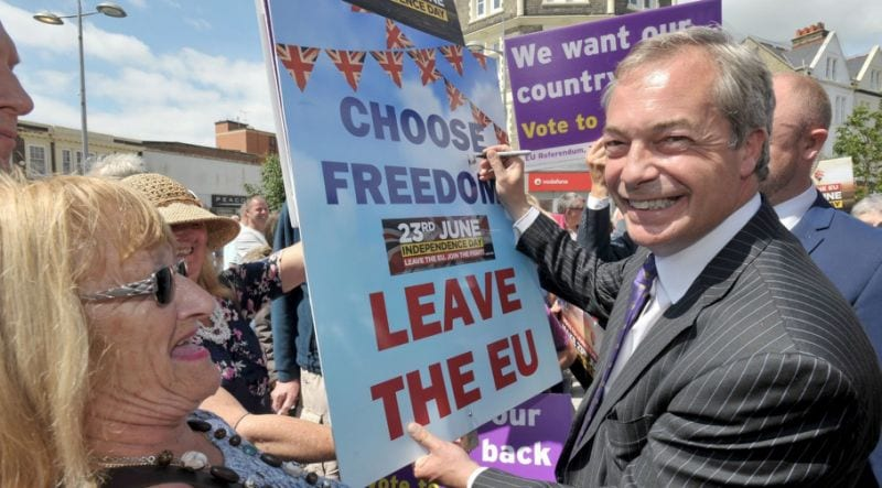 UKIP's Nigel Farage celebrates Brexit and wants 24th June 2016 to be declared as Britain's Independence Day. Is he of Maltese descent.