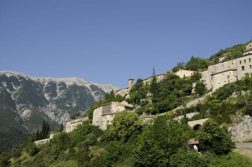 the village of Brantes and the Mont Ventoux in background