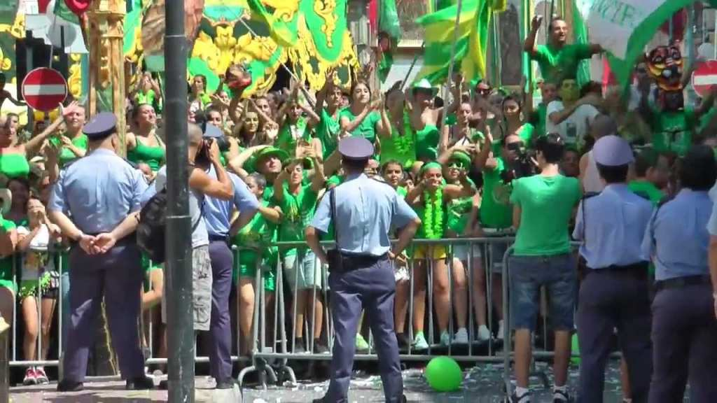 Rival bands face off against each other at Zabbar for the feast of Our Lady of Graces.