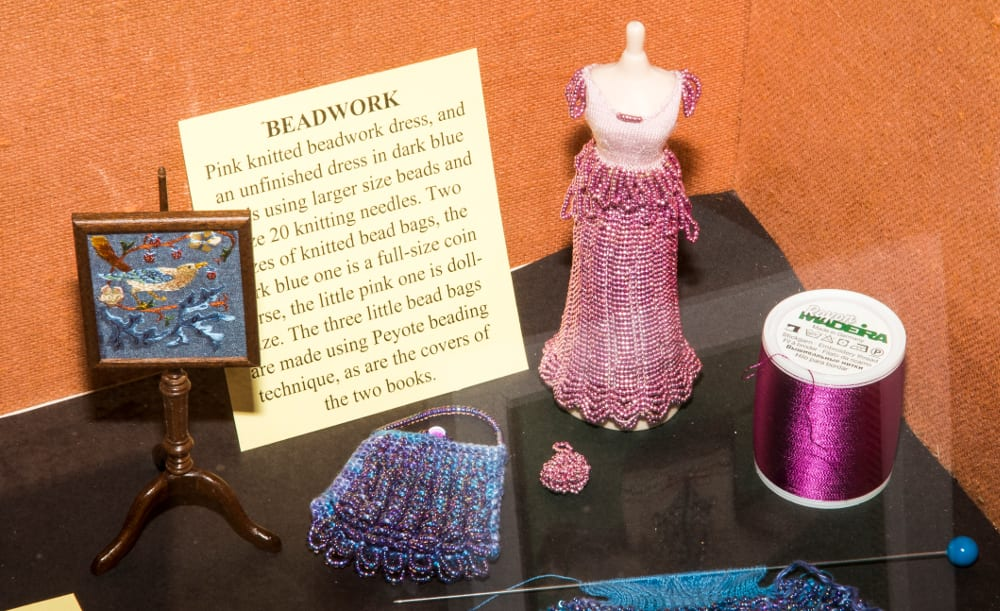 Miniature Needlework Society exhibition at Forge Mill Needle Museum, Redditch, 2016.