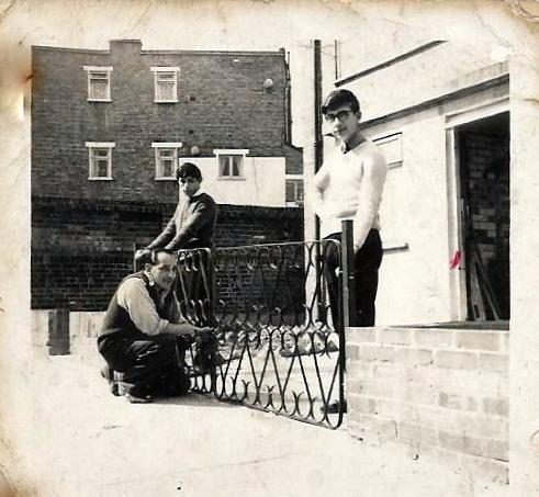 Setting-up-our-Home-No-10-in-Auckland-Hill-West-Norwood-London.-My-brother-Edward-and-I-left-giving-dad-a-helping-hand.