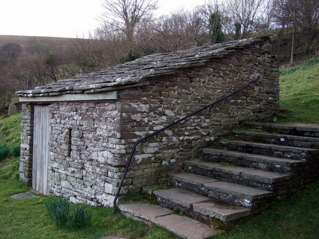The-outhouse-in-Partrishow-churchyard