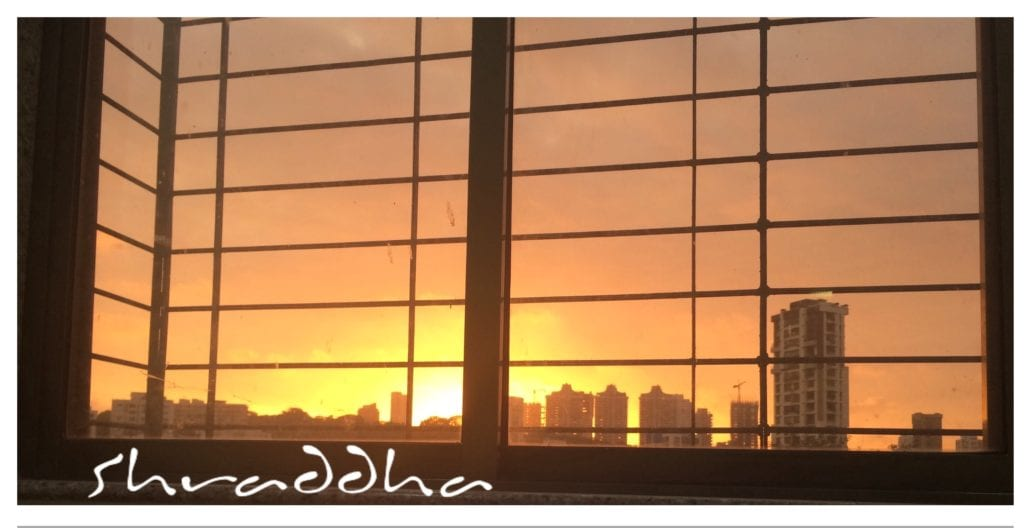 Beautiful sun-set view outside my office, Mumbai.