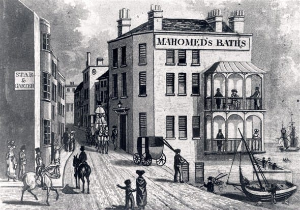 1826 Illustration of Mahomed's Baths on Brighton Seafront
