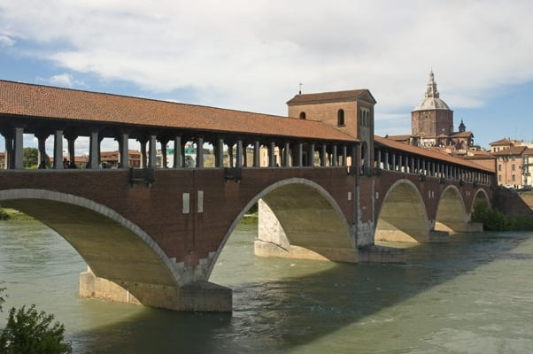 Pavia the impressive Covered Bridge