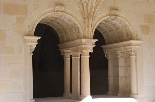 Ornated arches of the cloister