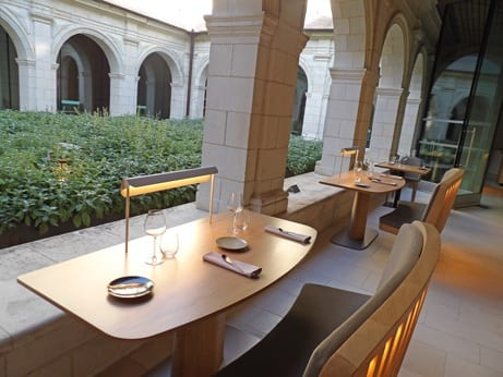The Michelin star restaurant and its small cloister