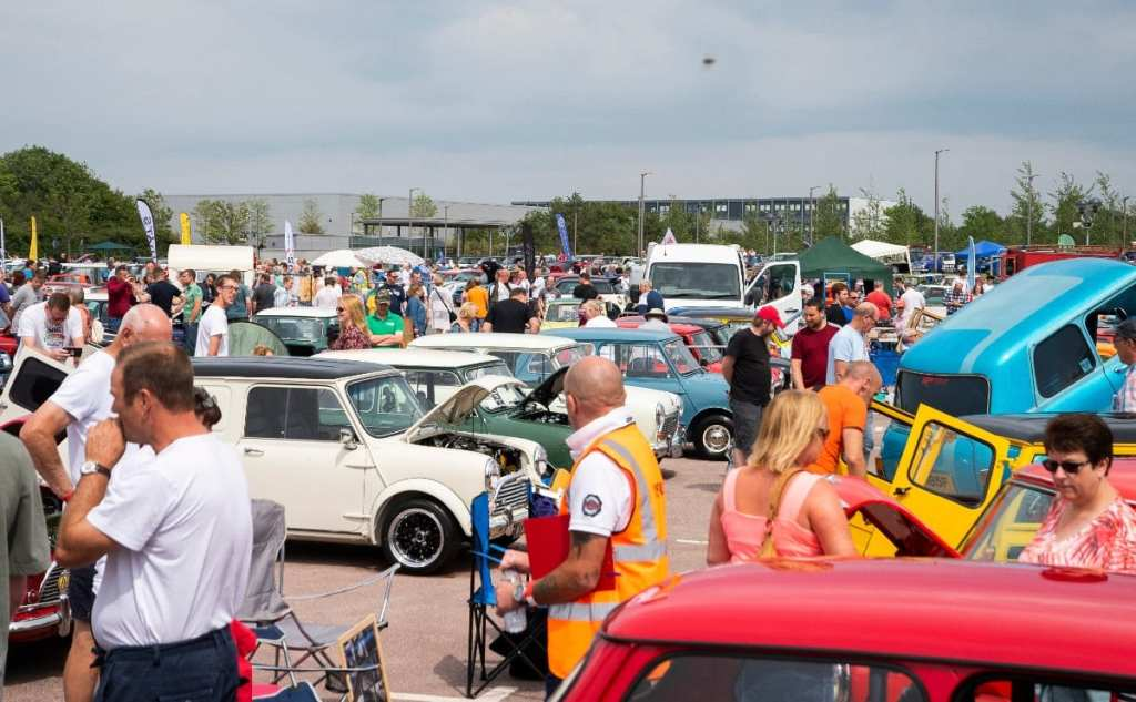 Pic Visitors at the British Motor Museum enjoying the Mini celebrations