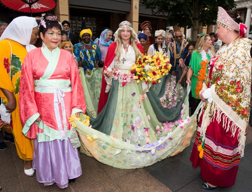 Pic Pru Poretta MBE Coventrys Lady Godiva at a recent procession Photo by Rob Tysall