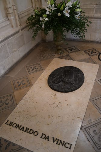 Ledonardos grave in the chapel of Amboise castle