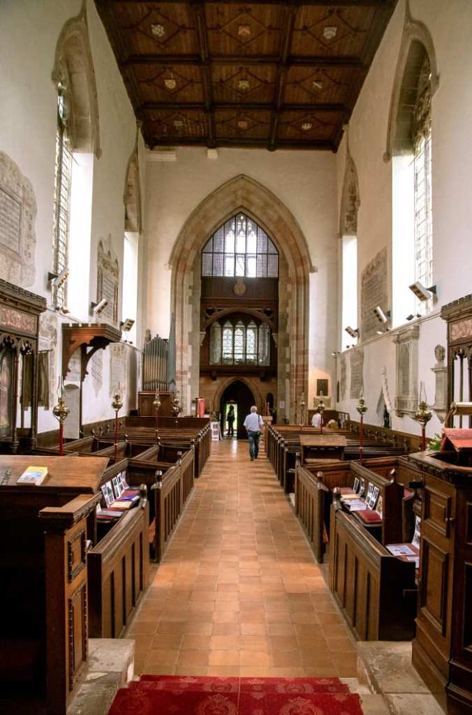 Pic Inside the lovely church linked with Astley Castle