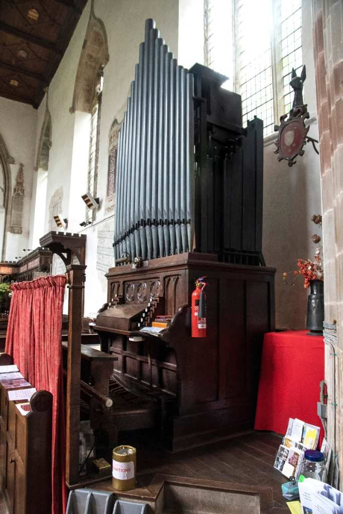 Pic The organ dates from made by Atterton and Son