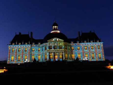 Christmas video show at Vaux le Vicomte