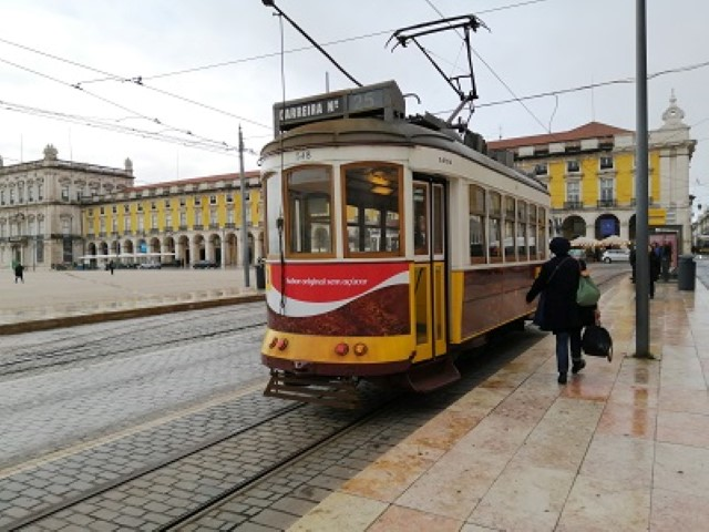 Trams are are a good wayto get around in Lisbon