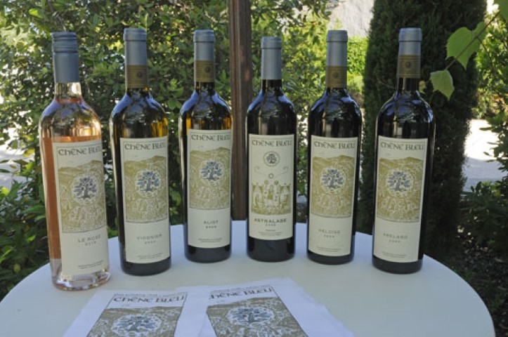 Selection of great wines from Le Chêne Bleu vineyard