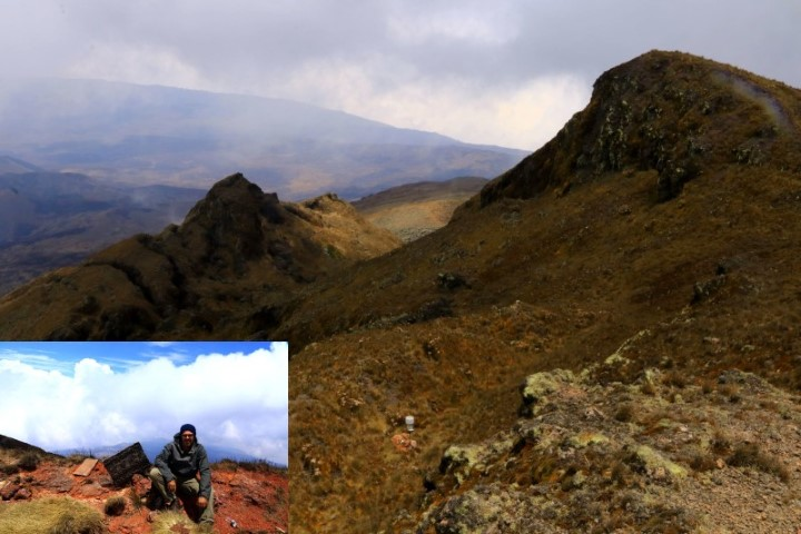 The m peak of Mnt Cameroon and the author