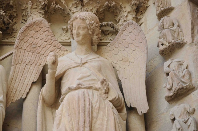 Reims the iconic Smiling Angel