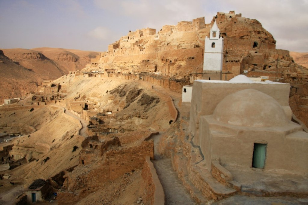 The old abandoned Berber town of Chenini