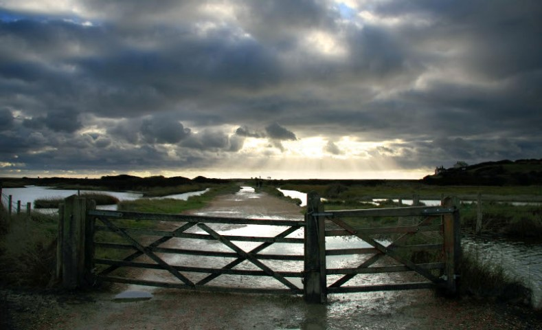 Gate leading out to sea Cuckmere