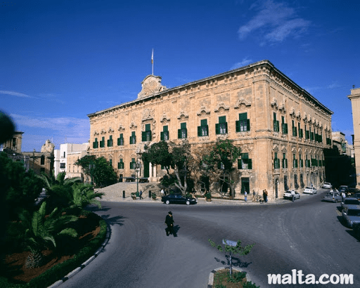 MalDia One of the magnificent palaces built by the Knights now the Prime Ministers Office