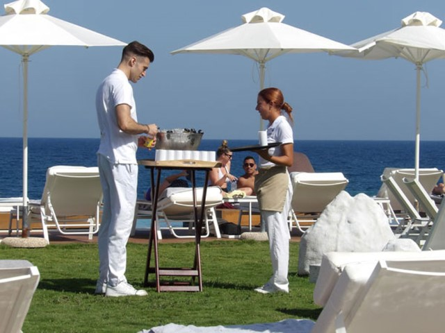 The Lesante Blue staff always ready to pamper guests