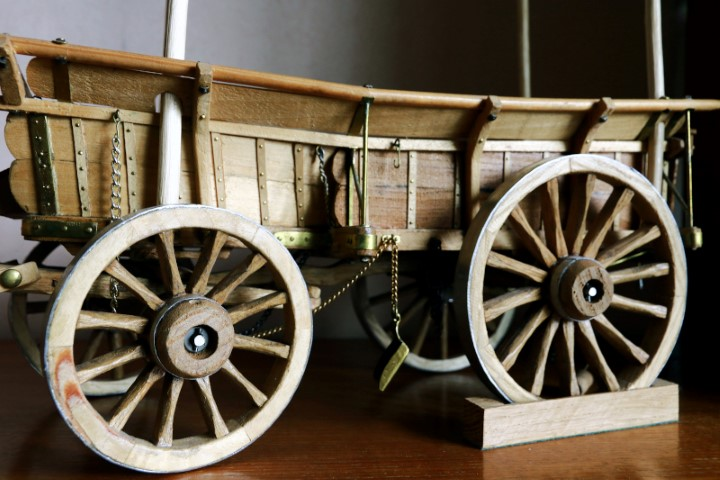 Close up of a Broad Wheeled Sussex Wagon