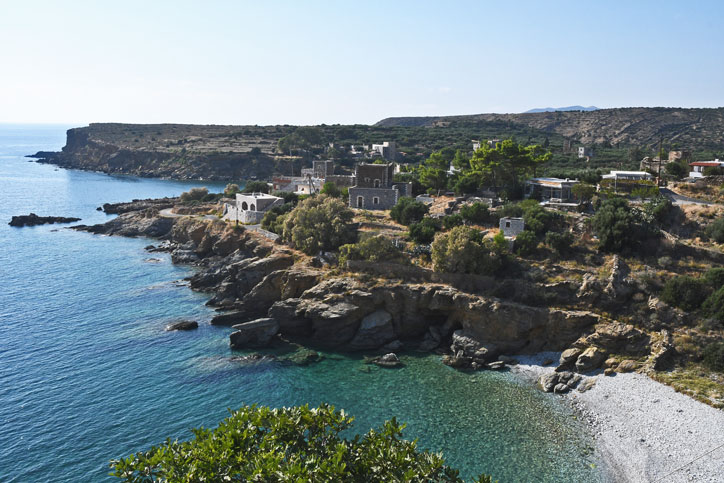 One of the numerous secret coves of the Mani coast