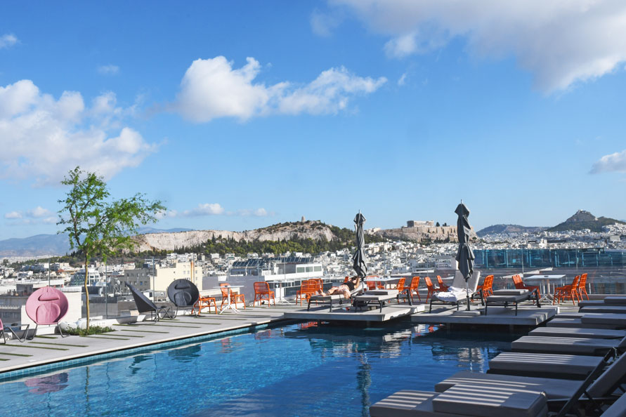 Roof top with a view at Grand Hyatt