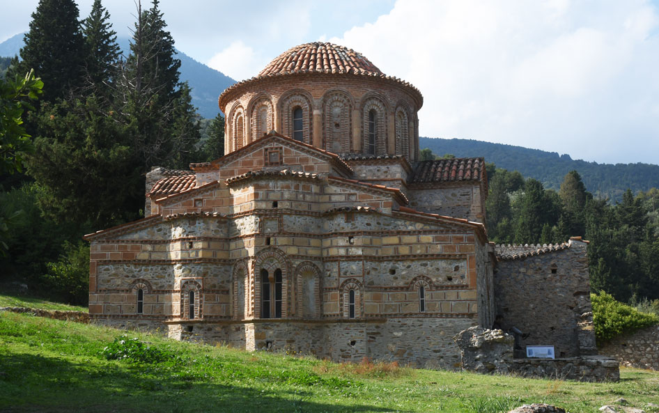 Charming church in the middle of Mystra ruins