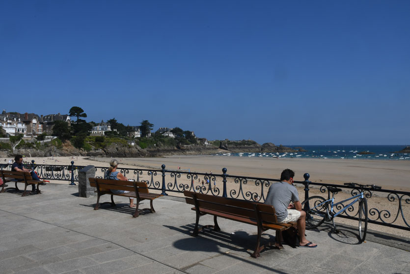 A little pause on the Velo Maritime route